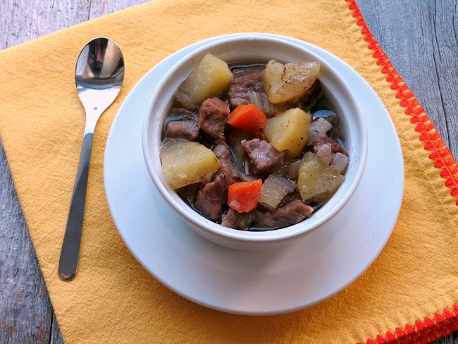 If you like a comforting beef stew with tender meat, it's easy to make it gluten free, and a slow cooker is the perfect way to cook it.