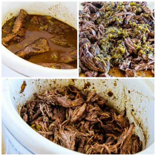 Slow Cooker Green Chile Shredded Beef Cabbage Bowl with Avocado Salsa ...