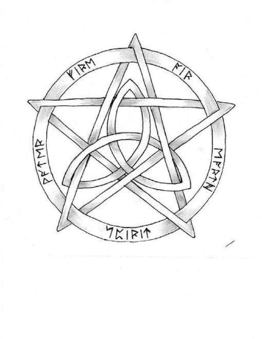 pentacle & runes
