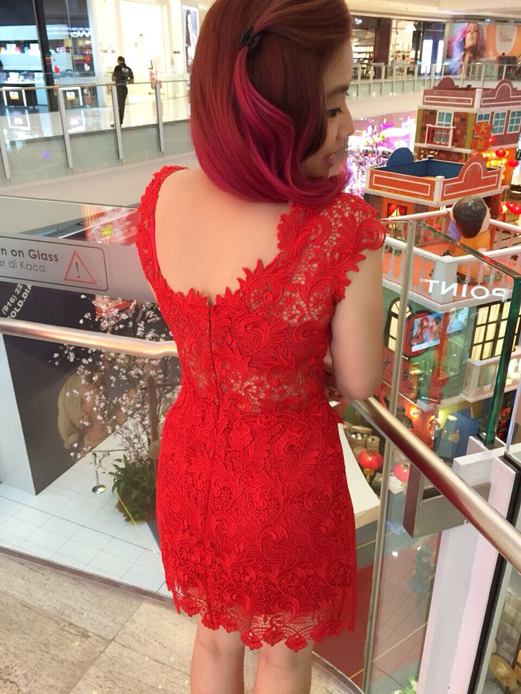 Back detail  #brokat #dress #red #madebyorder