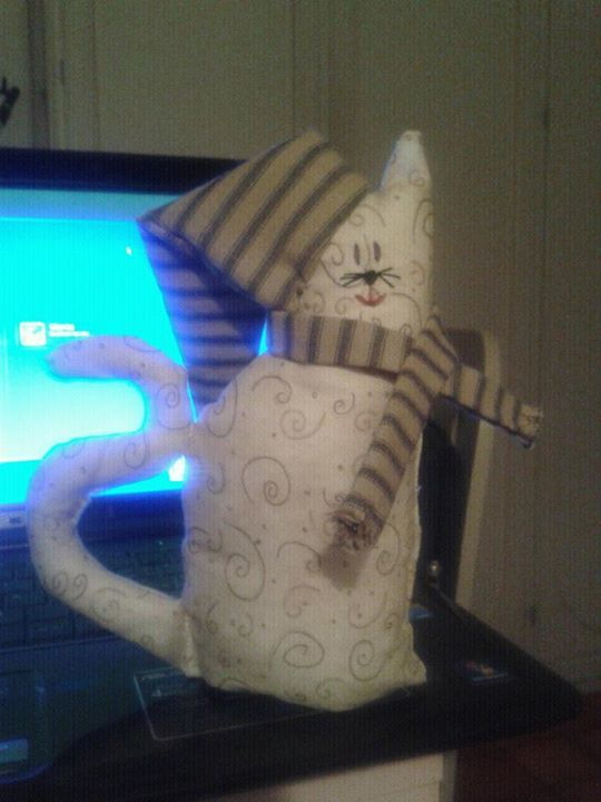gatto freddoloso#cat#creative sewing
