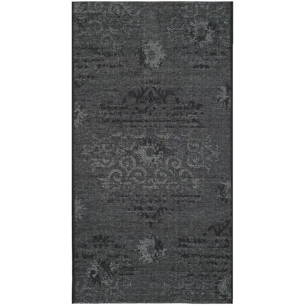 Safavieh Palazzo Black/ Grey Polypropylene/ Over-dyed Chenille Rug (3' x 5') - Overstock™ Shopping - Great Deals on Safavieh 3x5 - 4x6 Rugs  41