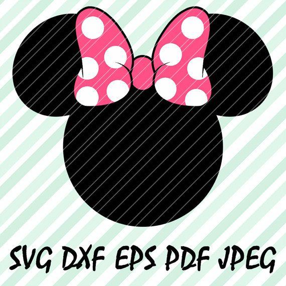 minnie mouse bow pink svg dxf eps pdf vector cut file design cricut cameo silhouette disney