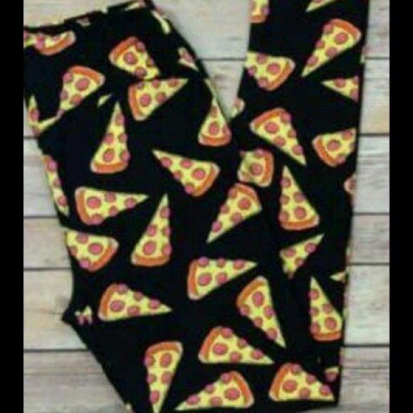Lularoe pizza leggings OS Brand new, never worn! Unicorn pizza leggings!! LuLaRoe Pants Leggings