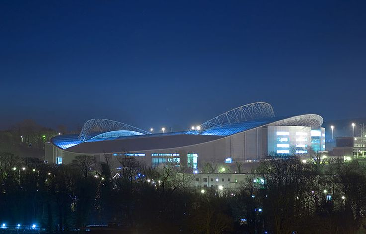 Brighton & Hove Albion Amex Stadium at night