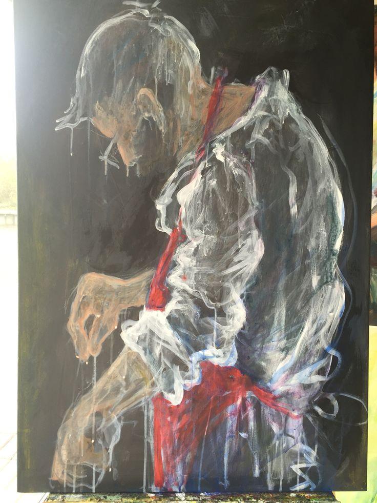 LE CHEF, Acryl auf Leinwand, 70x100 cm