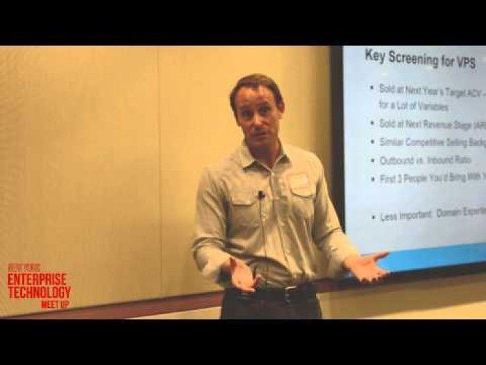 July 2014 NY Enterprise Technology Meetup - Jason Lemkin keynote on Hiring Your VP of Sales