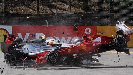 Belgian GP 2012 crash