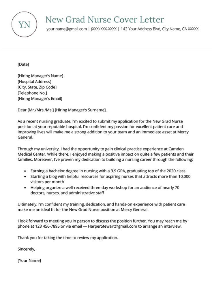 35++ Registered nurse cover letter new graduate ideas