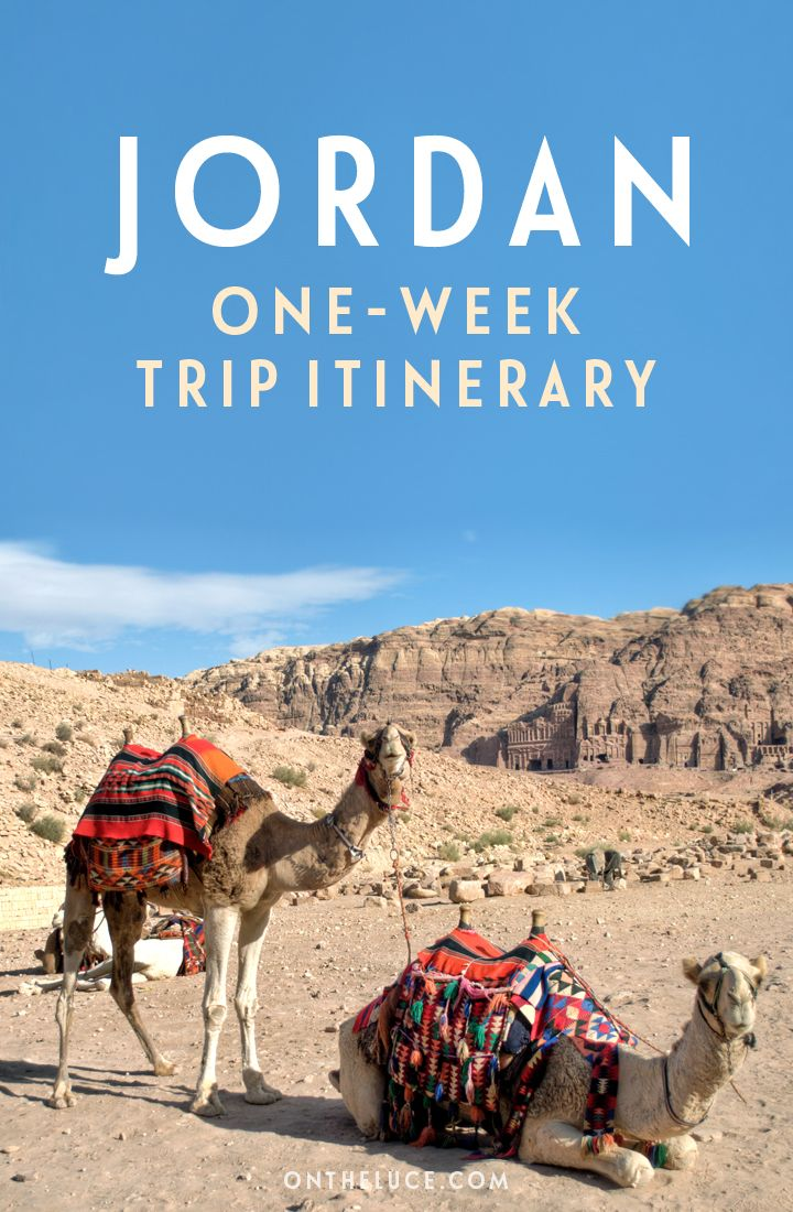 An itinerary for travelling around Jordan for a week, featuring Amman and Jerash, the temples of Petra and the Dead Sea.