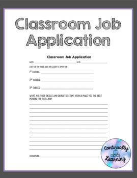 Classroom Job Software