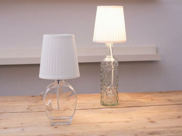 DIY-Anleitung: Lampe aus Flaschen bauen via DaWanda.com