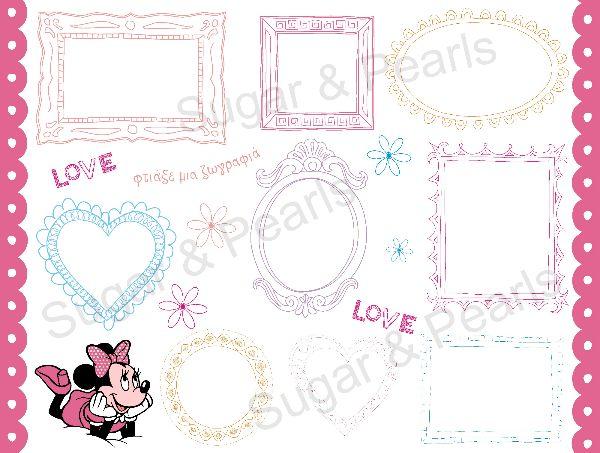 Set εκτύπωσης για γενέθλια-Minnie Mouse by Sugar & Pearls