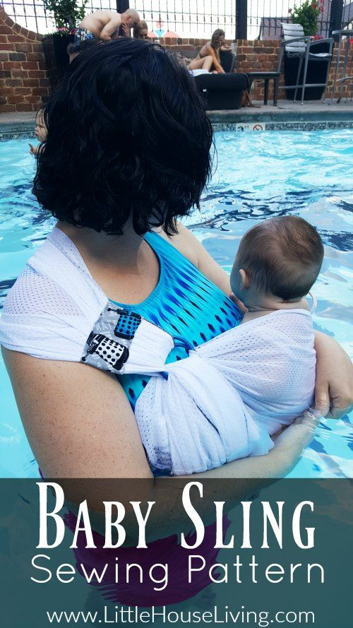 How to sew a mesh baby sling with this baby sling sewing pattern!