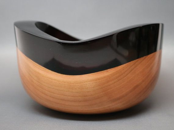 Handcrafted Turned & Carved Wooden Bowl of Cherry by Colemancrafts