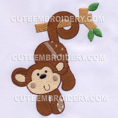 Free Embroidery Design Monkey | Free Embroidery Designs | Pinterest | Monkey Branches And ...