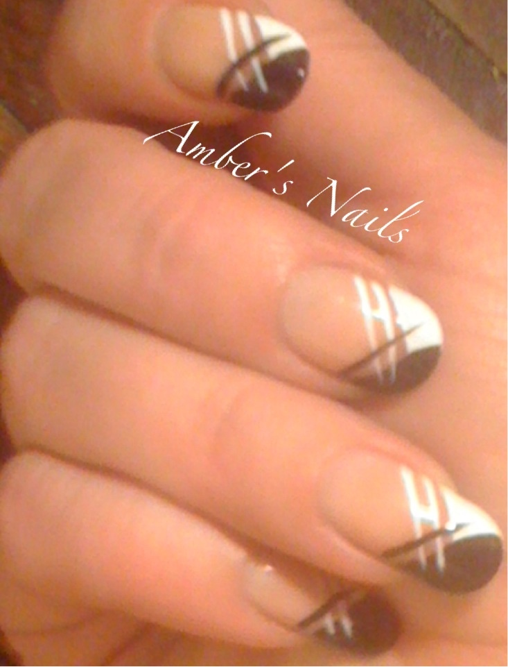Black and white french by me!!