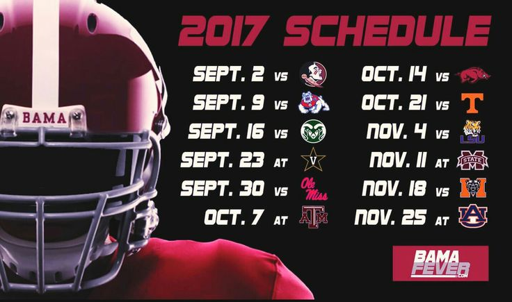 Alabama Football Schedule 2017