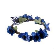 Anemone Floral Crown - Indigo