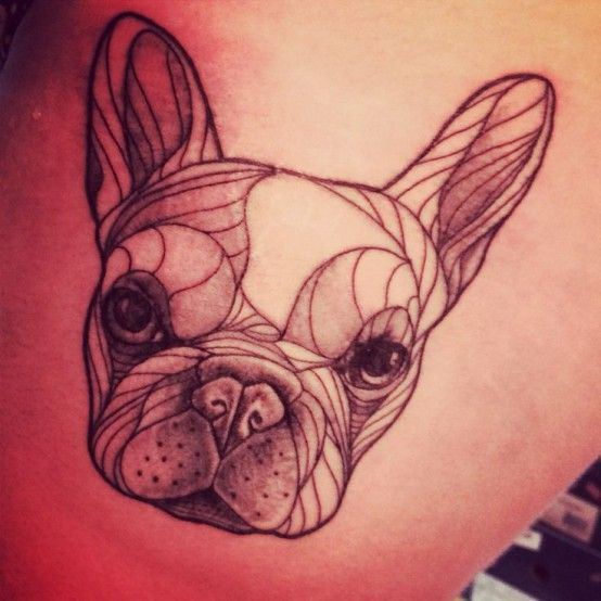To use for embroidery maybe. //The 21 Coolest French Bulldog Tattoo Designs In The World