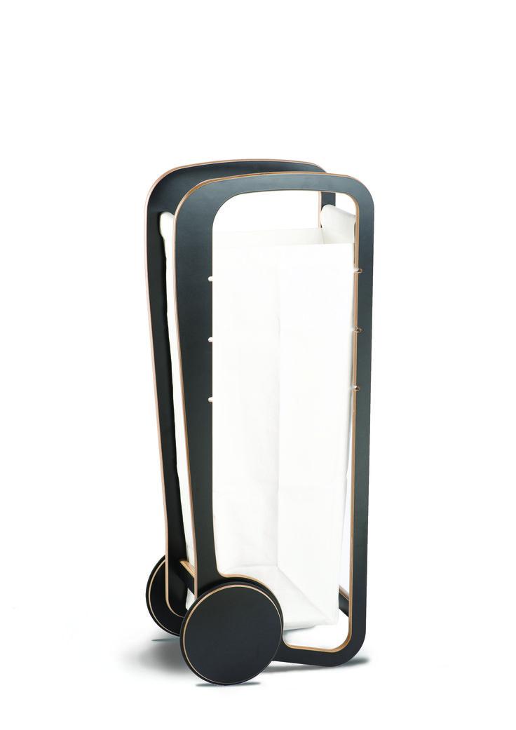 Fleimio Trolley Bag (white) in black Fleimio Trolley.