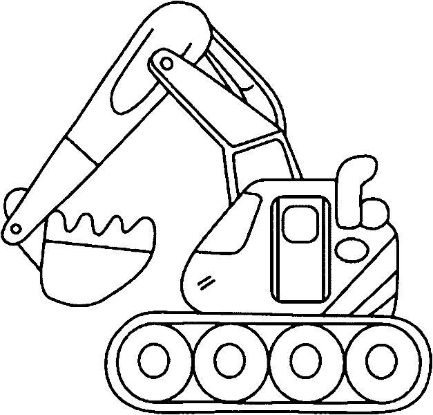 bild-malvorlage-bagger-6.gif (627×600) | malvorlagen