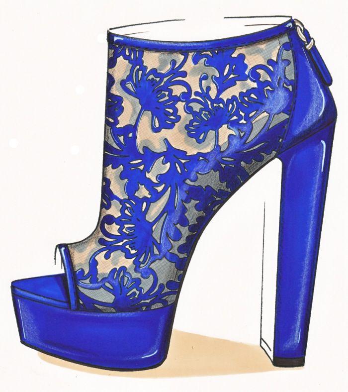 Shoe Illustration :: Sketch by Lisa Bozzato
