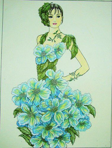 10 best Flower Fashion Fantasy images on Pinterest | Coloring ...