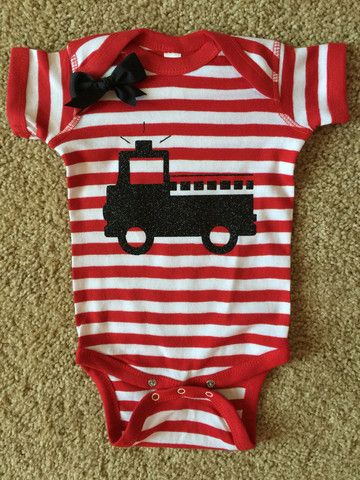 Firefighter Onesie - Fireman Onesie - Firefighter Baby - Glitter Onesi – Ruffles with Love