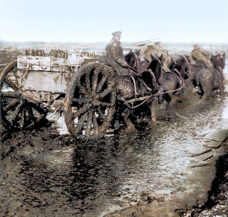 WW1, Oct 1916, Somme. Rain, and more rain. -mycollection.org.uk