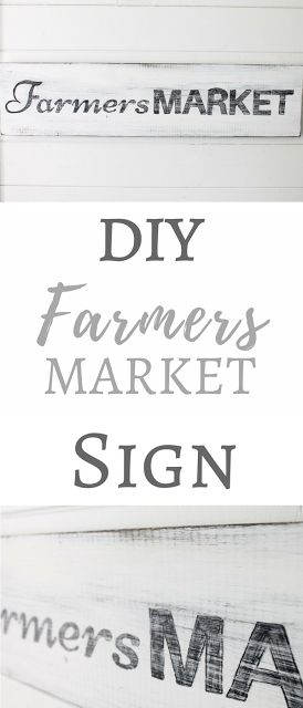 Simply Beautiful By Angela: DIY Farmers Market Wood Sign for Cheap