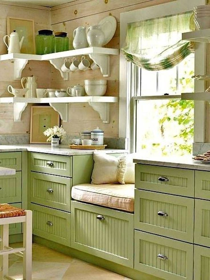 beautiful kitchens  Beautiful Kitchen Designs for Small Kitchens green kitchen Best 25 galley ideas on Pinterest