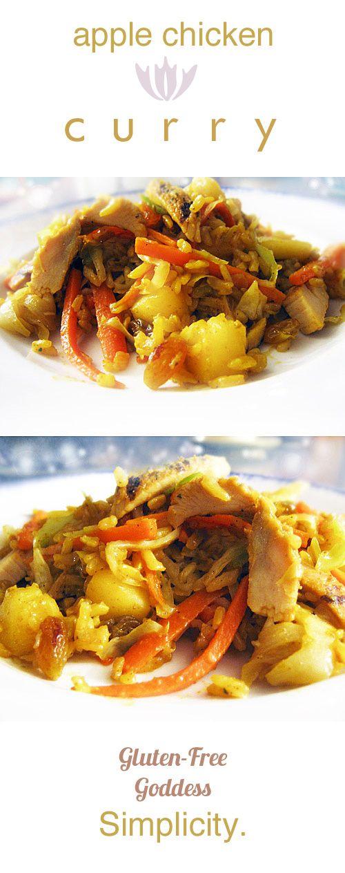 Apple Chicken Curry Stir-Fry with Art School Rice