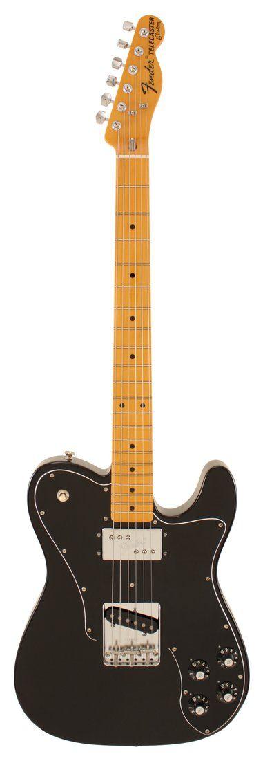 Fender Electric Guitar American Vintage 72 Telecaster Custom Black
