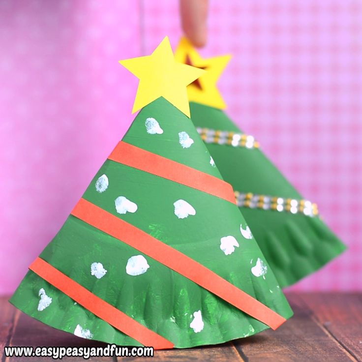 Rocking Paper Plate Christmas Tree Craft for Kids