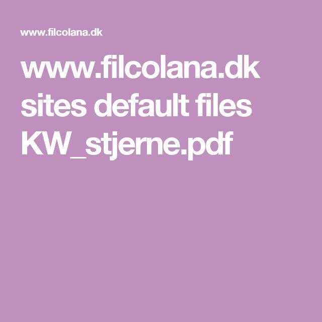 www.filcolana.dk sites default files KW_stjerne.pdf