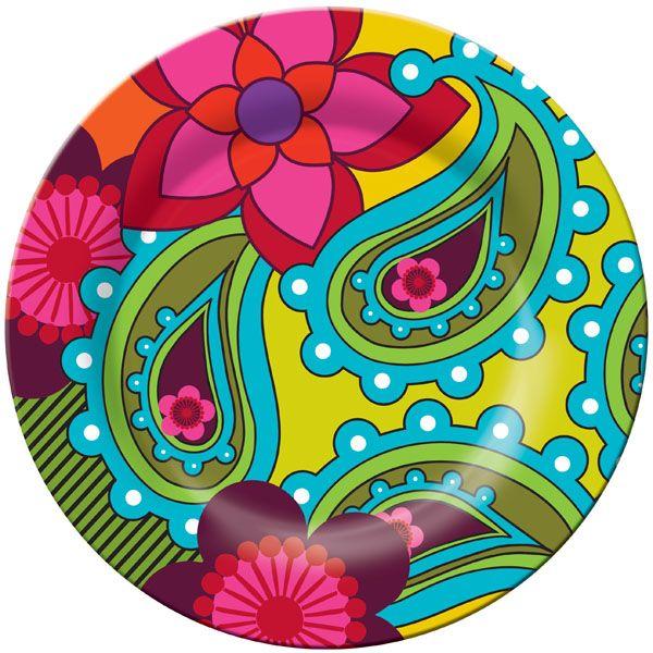 Raj Paisley Plate