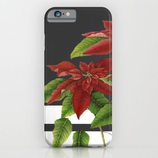 vintage poinsettia on modern background iPhone & iPod Case