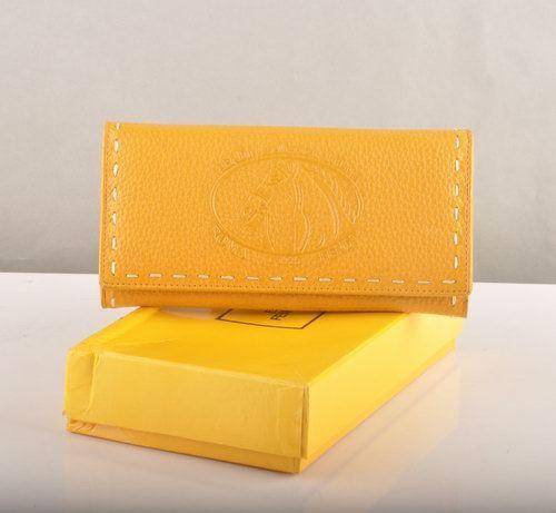 Fendi Yellow Calfskin Leather Long Wallet                  $89.00