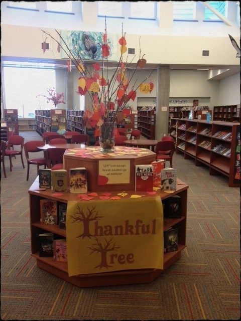 .Thankful Tree - could use the leaves with books they are thankful for as a library center.