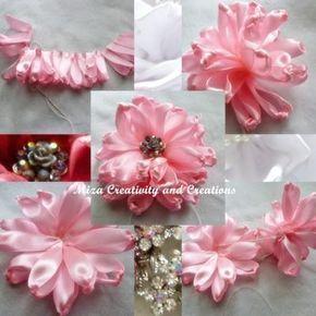 Como hacer flor de cintas-4