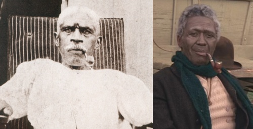 "Alex Haley's ""Roots"". The real ""Chicken George"" on (left) and the actor portraying him on (right)."