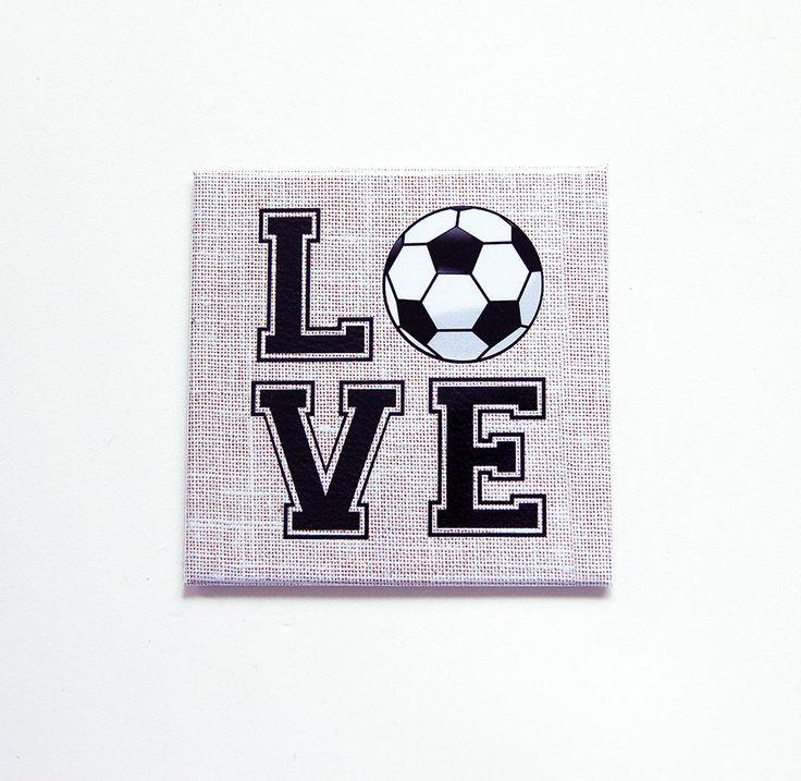 Love Soccer, Locker Magnet, Soccer Magnet, Fridge magnet, Square Magnet, Gift for him, gift for her, Fathers Day, Soccer, Football (7448) by KellysMagnets on Etsy