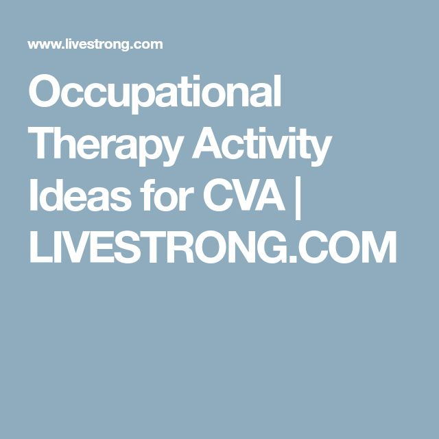 Occupational Therapy Activity Ideas for CVA | LIVESTRONG.COM