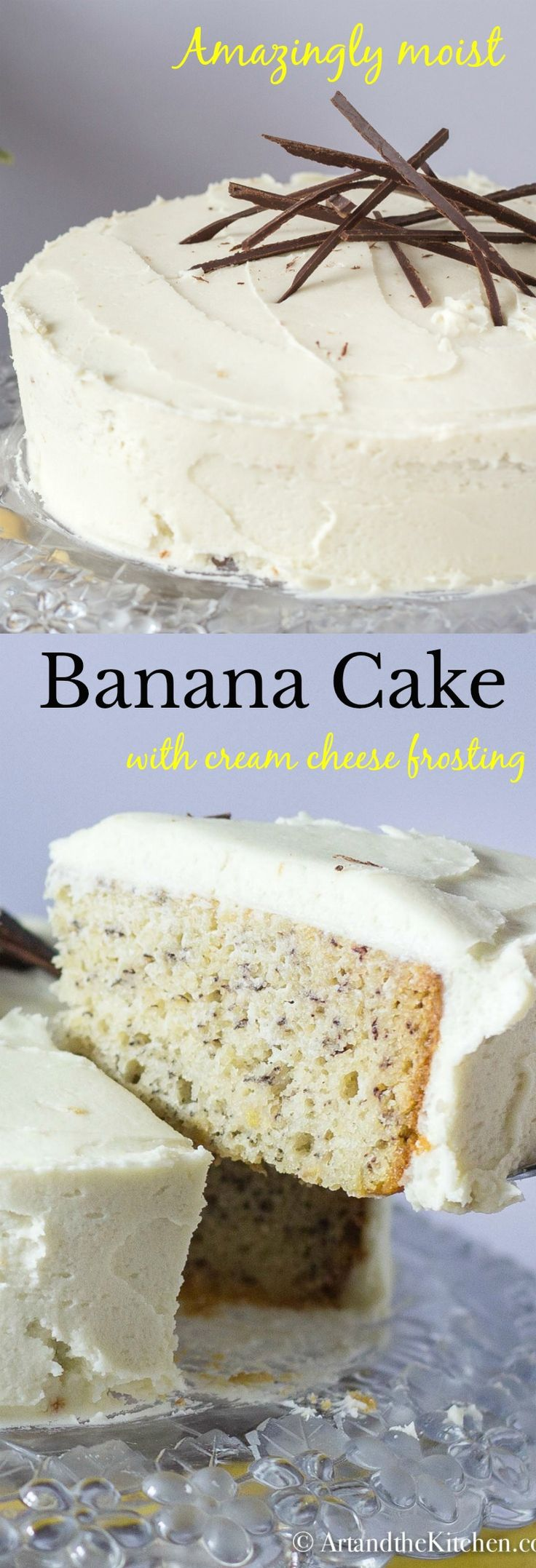 My All Time favourite recipe for Moist Banana Cake with Cream Cheese frosting. Ultra moist, flavourful and once you try it you will agree it is the best banana cake you have ever ate! #bananacake
