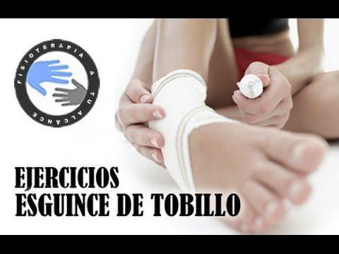 Esguince de tobillo, tratamiento y ejercicios