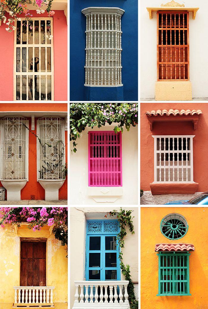 Ventanas de Cartagena de Indias