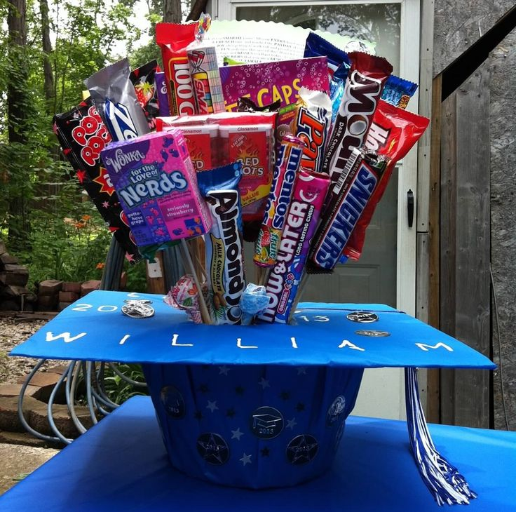 Graduation cap candy bouquet gift ideas