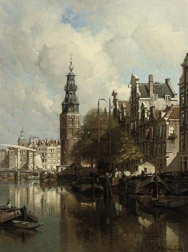 Johannes Christiaan Karel Klinkenberg A View of the Montelbaanstoren on a Sunlit Day, Amsterdam