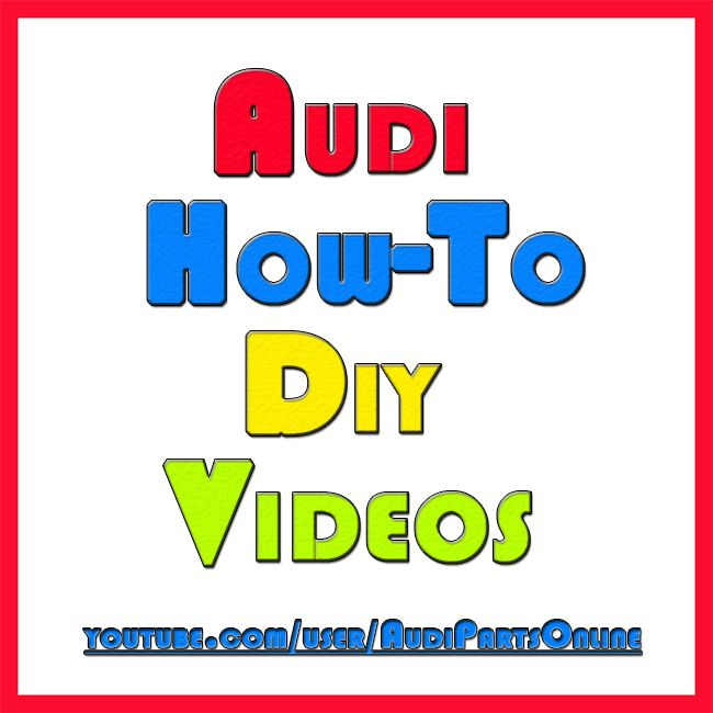 Need help with your Audi?   We make How-To DIY videos that we'll help you get through whatever problem you're facing.   If you don't see a video for what you need help with let us know and we'll try to get one up as soon as we can.     #Audi #HowTo #AudiDIY #AudiHelp #AudiVideos #WolfAutoParts